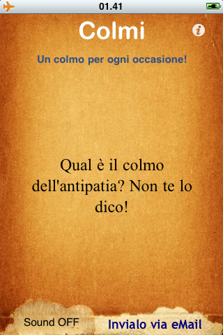 screenshot Colmi app per iphone