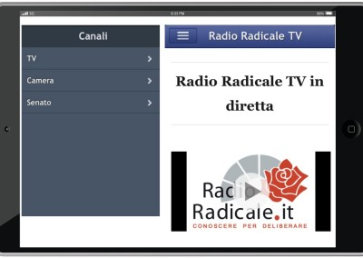 App iOS di Radio Radicale TV