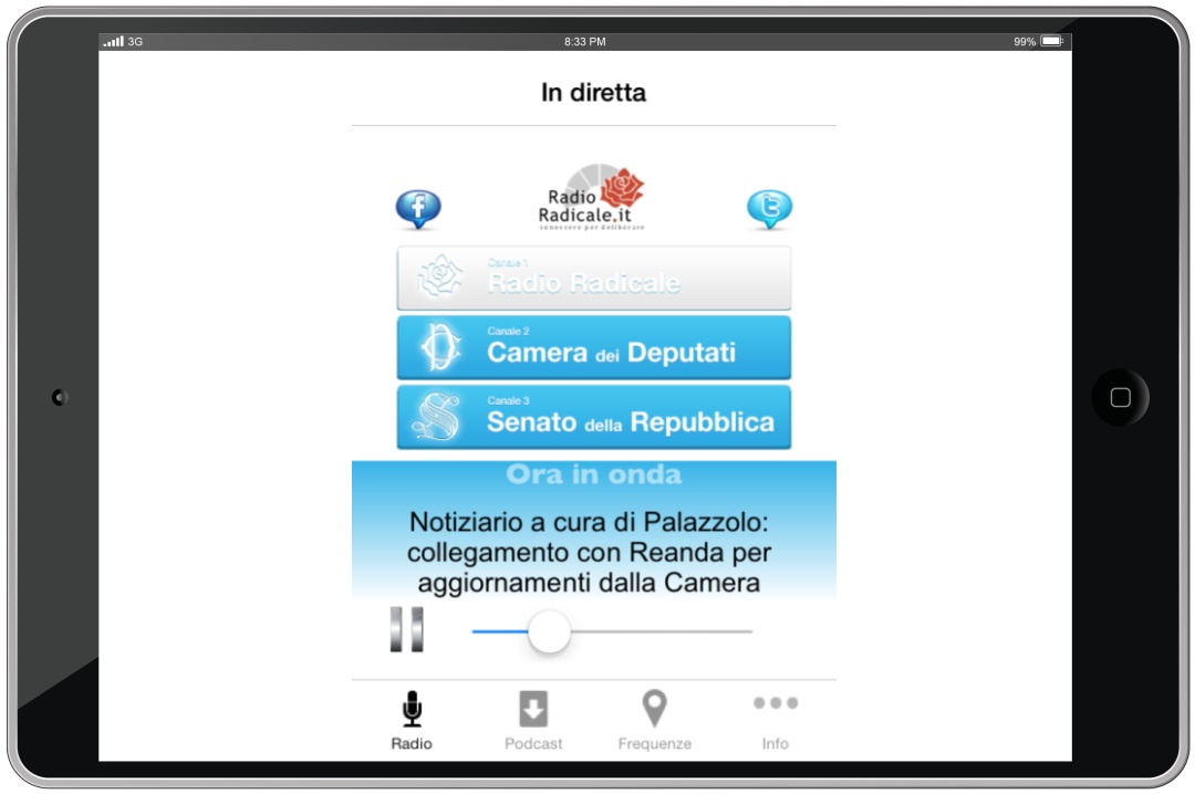 App iOS Radio Radicale