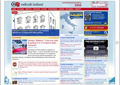Nuovo sito web di Radicali Italiani