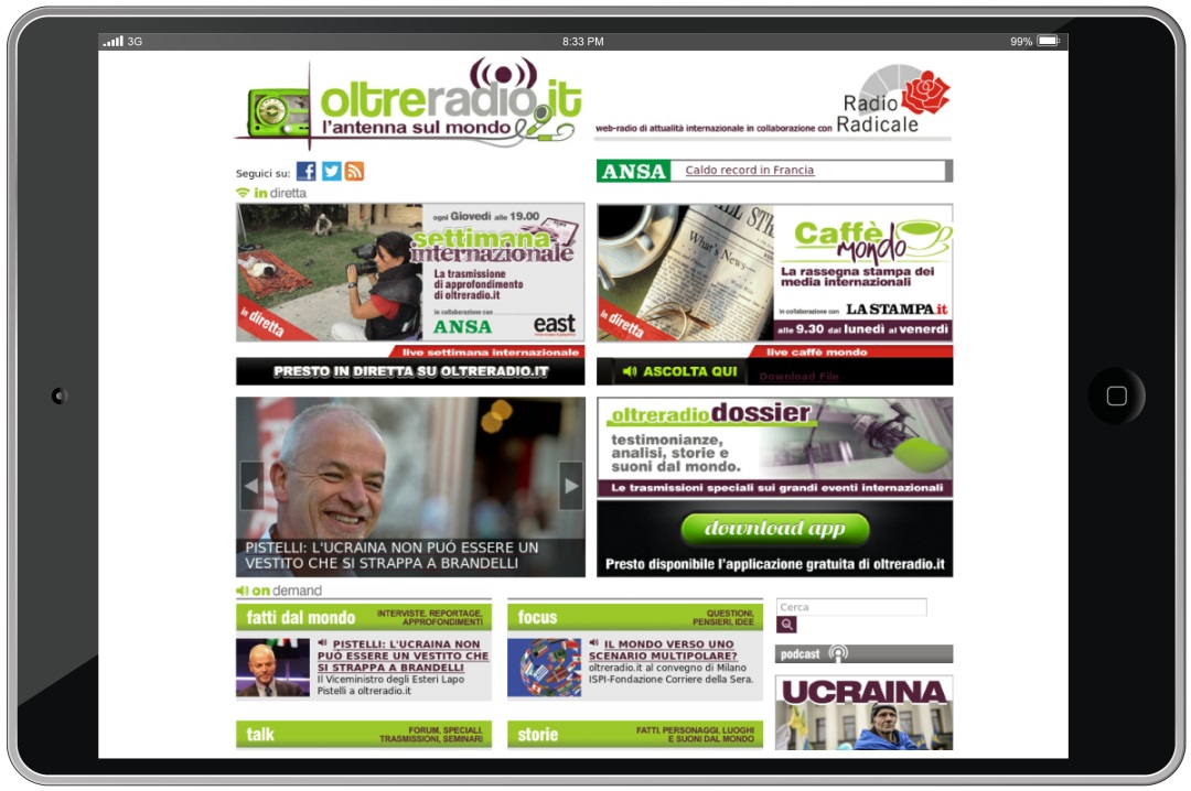 Oltreradio.it Web radio ondemand e live