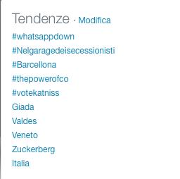 twitter trend whatsappdown