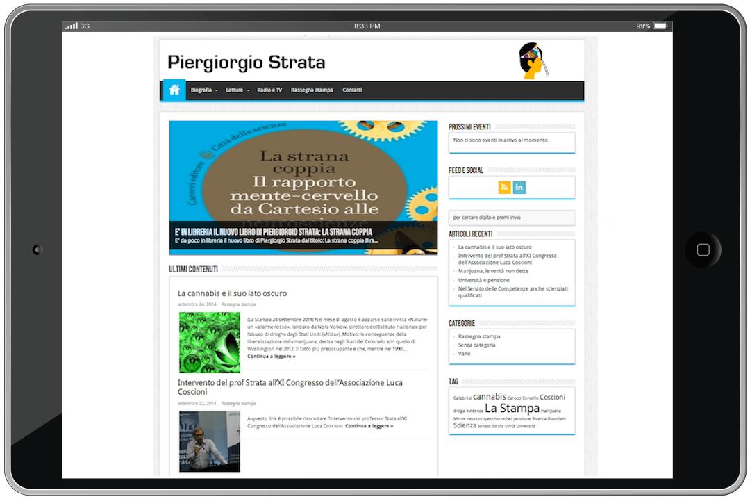 Il nuovo sito di Piergiorgio Strata